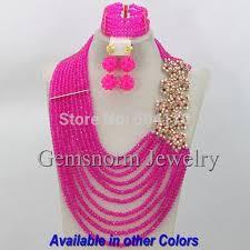 beading necklace styles images Amazing bright red wedding nigerian beads jewelry set 2017 new jpg