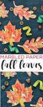 marbled paper fall leaves kids u0027 craft typically simple
