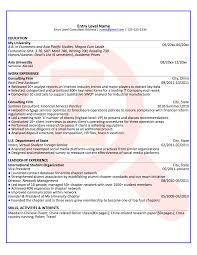 Best Consulting Resume by Entry Level Consulting Resume Free Resume Example And Writing