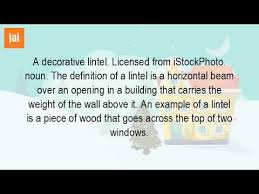 Decorative Definition What Do You Mean By Lintel Level Youtube