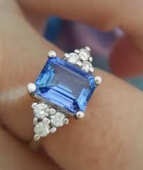light blue sapphire ring light blue emerald cut sapphire engagement ring beautiful rings