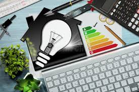 energy of light calculator energy efficiency rating house with light bulb stock image image