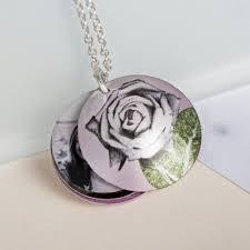 Personalized Photo Locket Necklace June Rose Birth Flower Personalised Photo Locket Necklace Gift