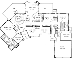 single story 5 bedroom house plans floor plans aflfpw21128 1 story european home with 5 bedrooms 4