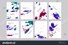 Business Templates For Pages Set Vector Templates Business Covers Posters Stock Vector