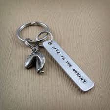 fortune cookie keychain fortune cookie keychain live in the moment 14 00 via etsy