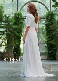 modest bridal by mon cheri tr11836 v neck wedding dress