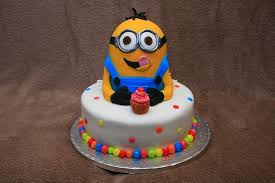 Minion Cake Decorations 1st Birthday Cakes Canvas Factory