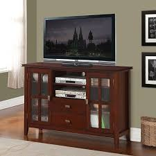 tall tv stand entertainment center cabinet media console wood
