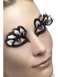 home u003e accessories u003e eyelashes u003e brown and white feather eyelashes