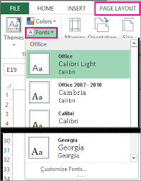 change the appearance of your worksheet excel
