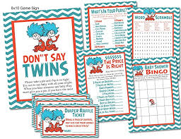 thing 1 and thing 2 baby shower thing 1 thing 2 dr seuss baby shower card