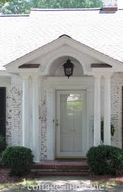 interior fetching front porch portico design ideas with white