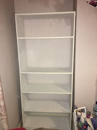 white argos maine tall wide extra deep bookcase good condition