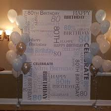 wedding backdrop personalized custom 80th birthday party backdrop personalized vinyl