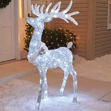 Lighted Deer Lawn Ornaments by Christmas Decorations Lighted Deer Lighted Deer Sculptures