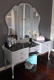 Silver Leaf Bedroom Furniture by Queen Anne Dressing Table Painted As Paris Grey My Paint Affair