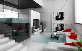 architecture modern home design with elegant living room with