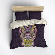 Black And Purple Bed Sets Dark Purple Comforter Beds Decoration