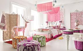 modern princess bedroom design with pink curtains for teenage