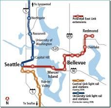 light rail map seattle map of east link light rail line eastside estate