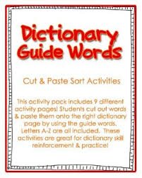 72 best dictionary skills images on pinterest dictionary skills