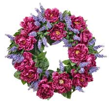 spring door wreaths catalina peony silk spring door wreath the wreath depot