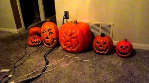 halloween pumpkin light light o rama halloween lights youtube