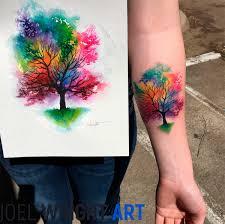 joel wright art watercolor tattoo artist surreal oil paintings