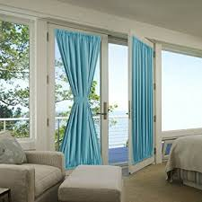amazon com flamingop french door curtains solid blackout rod
