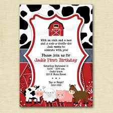 free farm themed birthday party invitations template drevio