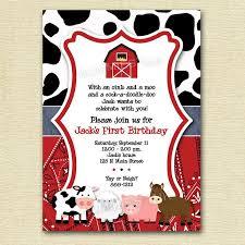 free farm themed birthday invitations template drevio