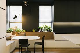 Table For Banquette Dining Room Design Idea Use Built In Banquette Seating To Save