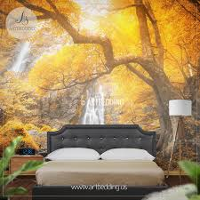 wall murals peel and stick self adhesive vinyl hd print artbedding autumn waterfall wall mural photo wall mural self adhesive peel stick nature wall