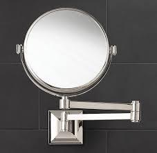 adjustable wall mounted bathroom magnifying mirror chrome vanity
