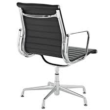 lexmod ribbed mid back conference office side chair in