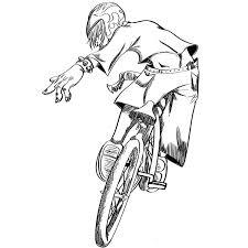bmx bike coloring page letscoloringpages com bmx racing