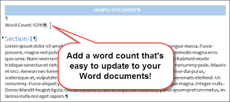 Count Words In A Text Document How To Insert A Word Count Into Your Word Document