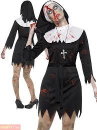 zombie nun priest couples costume mens ladies halloween