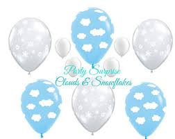 Snowflake Balloons Airplane Party Etsy Studio