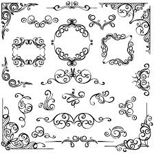corner ornaments with frame vector vector frames borders