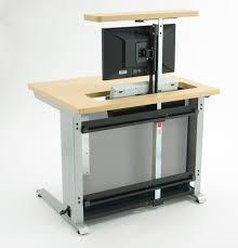 computer desk monitor lift enwork