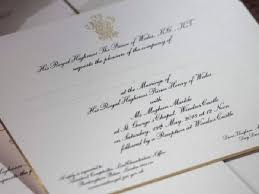 royal wedding invitation meghan markle s real name left wedding invitation to prince harry