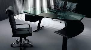 Modern Glass Office Desks Glass Office Desk Happyhippy Co