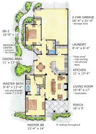 narrow home plans awesome idea narrow lot house plans courtyard garage 14