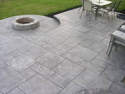 home design backyard stamped concrete patio ideas image on