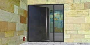 Exterior Doors Steel Steel Front Doors With Glass Stylish Modern Custom Pivot Metal