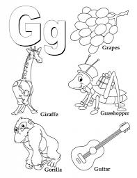 the most brilliant letter g coloring page regarding really