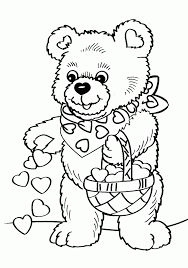 teddy bear colouring pages coloring