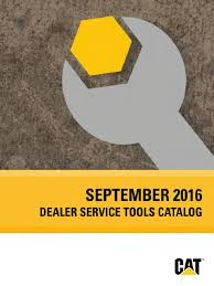 catalogo de herramientas caterpillar 2016 dealer service tools